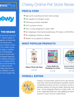 Chewy Online Pet Store Review – ReviewsPlus