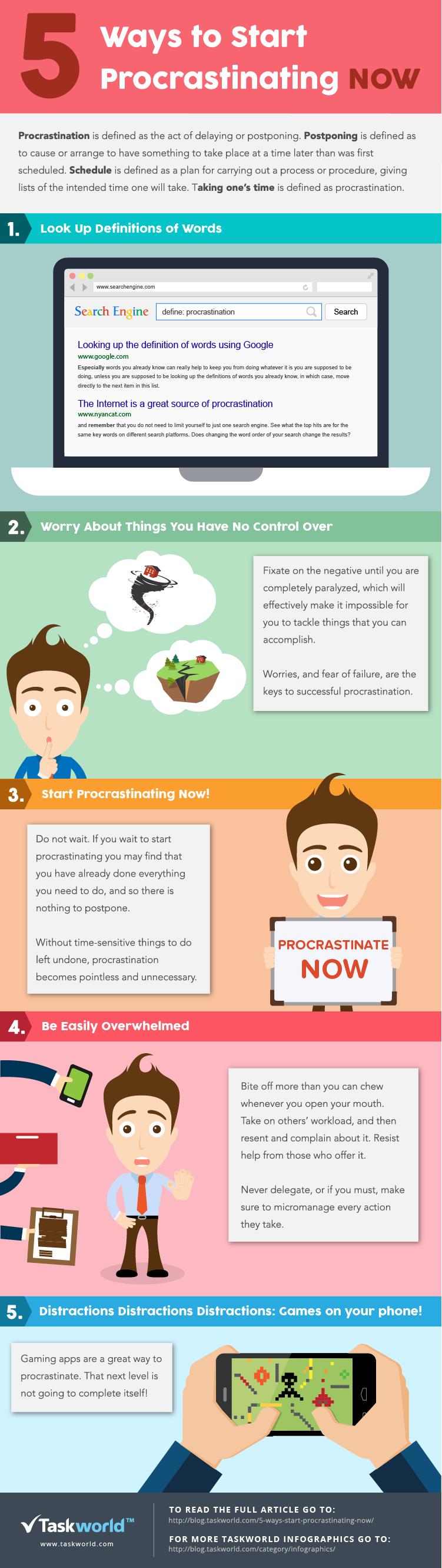 5-ways-to-procrastinate