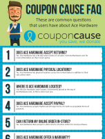 Ace Hardware Coupon Cause FAQ (C.C. FAQ)