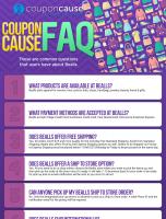 Bealls Infographic Order Coupon Cause FAQ (C.C. FAQ)