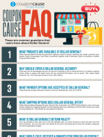 Dollar General Infographic Order Coupon Cause FAQ (C.C. FAQ)