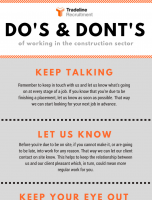 Do's & Dont's of Working in the Construction Sector