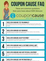 ESPA Coupon Cause FAQ (C.C. FAQ)