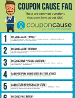 GNC Coupon Cause FAQ (C.C. FAQ)
