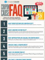 Groupon Infographic Order Coupon Cause FAQ (C.C. FAQ)