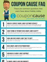 Hobby Lobby Coupon Cause FAQ (C.C. FAQ)
