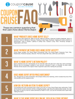 Home Depot Infographic Order Coupon Cause FAQ (C.C. FAQ)