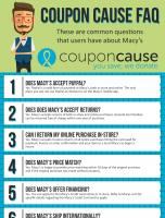 Macy's Coupon Cause FAQ (C.C. FAQ)