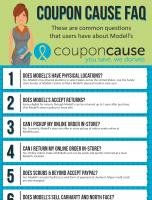 Modells Coupon Cause FAQ (C.C. FAQ)
