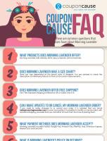 Morning Lavender Infographic Order Coupon Cause FAQ (C.C. FAQ)
