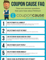 PetSmart Coupon Cause FAQ (C.C. FAQ)