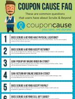 Scrubs & Beyond Coupon Cause FAQ (C.C. FAQ)
