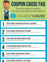 Scrubs & Beyond Coupon Cause FAQ (C.C. FAQ)