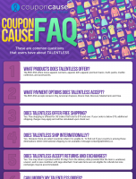 TALENTLESS Infographic Order Coupon Cause FAQ (C.C. FAQ)