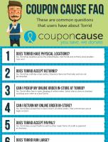 Touch of Modern Coupon Cause FAQ (C.C. FAQ)