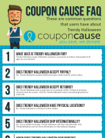 Trendy Halloween Coupon Cause FAQ (C.C. FAQ)