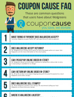 Walgreens Coupon Cause FAQ (C.C. FAQ)