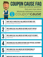 Wholesale Halloween Costumes Coupon Cause FAQ (C.C. FAQ)